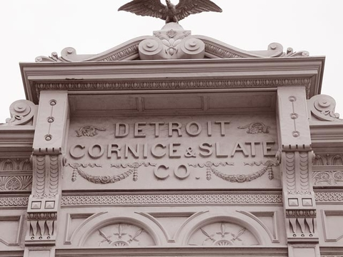 Restored cornice work at our own Detroit building