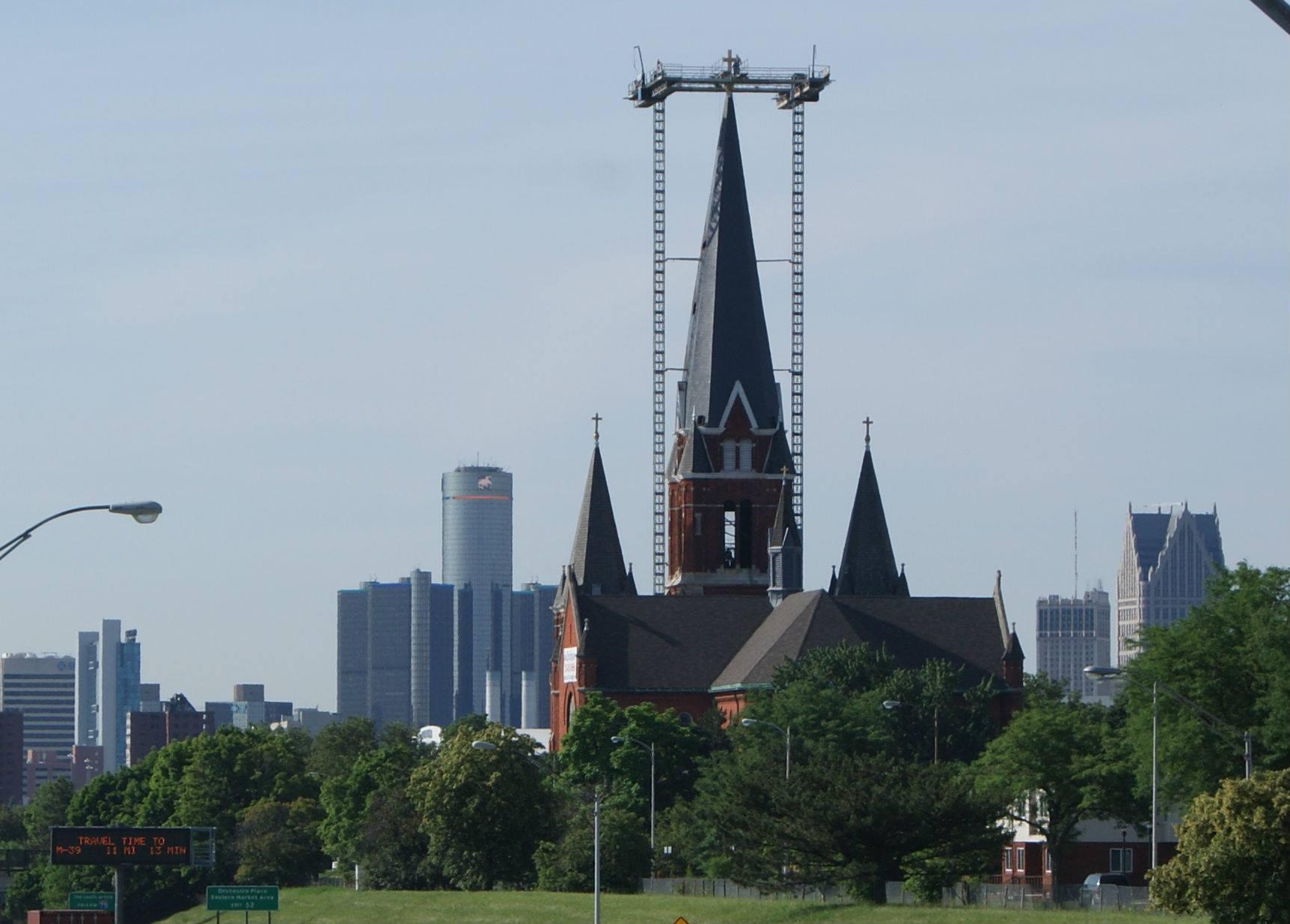 St Josaphat Steeple Detroit Cornice Amp Slate Co
