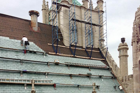 Fort Street Presbyterian Church Slate Roof Project